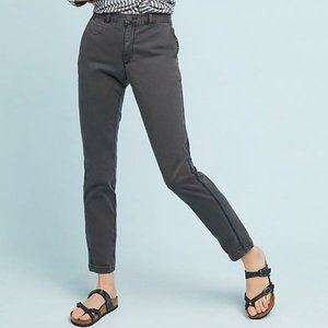 Chino by Anthropologie Striped Chino Trousers 26